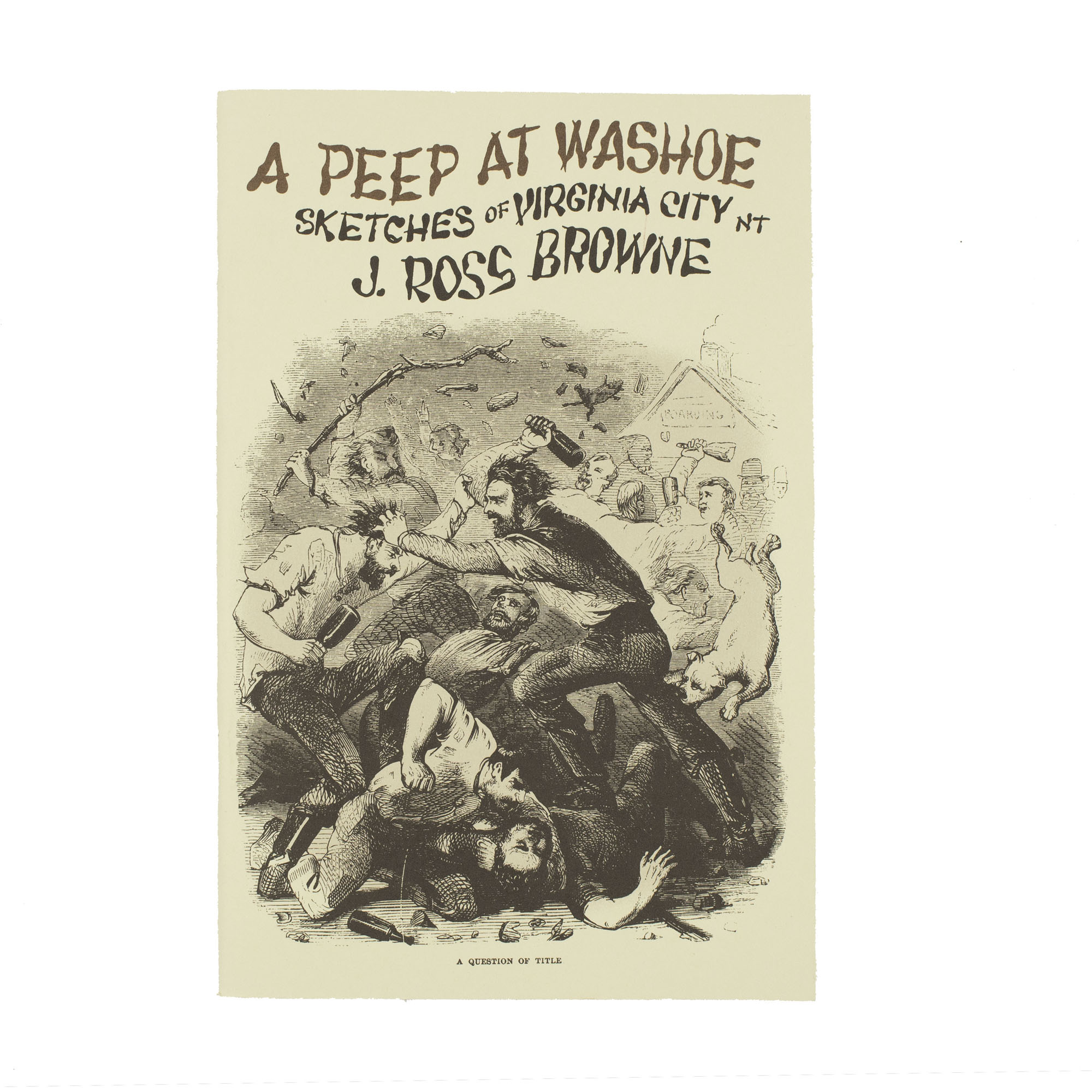Nevada Revised Statutes >> A Peep at Washoe - Sketches of Virginia City by J. Ross Browne