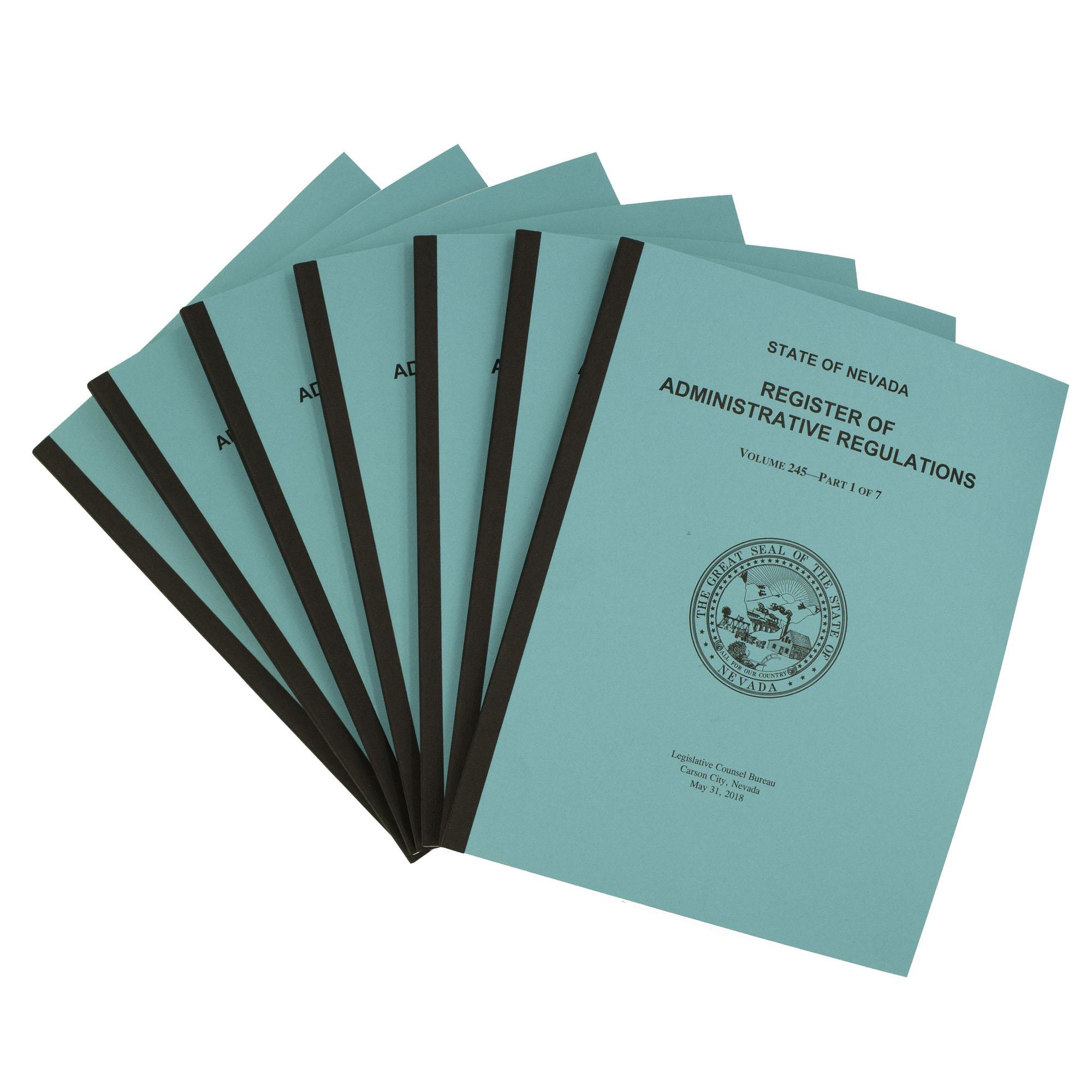 Nevada Administrative Code Register Subscription - July 1, 2019 - June 30,  2020