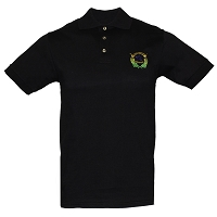 Polo Shirt with Embroidered Battle Born Insignia Fine-  Jersey Knit