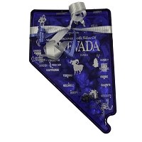 Blue Nevada State Shaped Candy Box - Filled