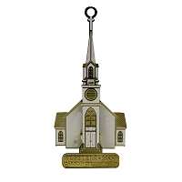 2004 - St. Peter's Church White and Gold Ornament - The Historical Buildings Ornament Collection of Carson City, Nevada