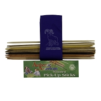 Pick Up Sticks with Pouch Featuring Desert Bighorn Sheep