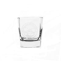 On the Rocks Square Glass with Nevada State Seal - 10 oz.