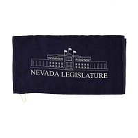 Navy Golf Towel with Legislative Building