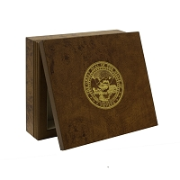 Burlwood Box with Nevada State Seal on Top