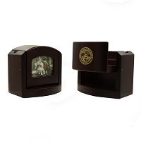 Business Card Holder - Nevada State Seal - Pop-up