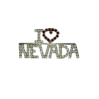 Pin - I (Red) Heart Nevada Brooch with Red and Crystal Rhinestones