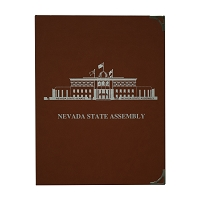 Pad Holder with the Nevada Legislative Building on Cover - Red