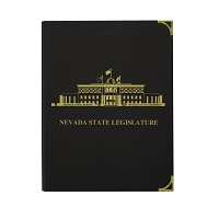 Pad Holder with the Nevada Legislative Building on Cover - Black