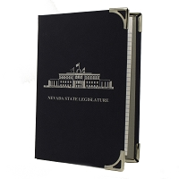 Pad Holder with the Nevada Legislative Building on Cover - Navy