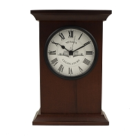 Wood Mantel Clock with Legislative Building