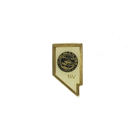 Lapel Pin - Shape of Nevada with State Seal Pin