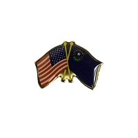 Lapel Pin - U.S. and Nevada Crossed Flags Pin