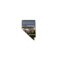 Lapel Pin - Nevada Shaped Pin with the Battle Born Logo