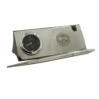 Business Card Holder, Clock and Pen with the Nevada State Seal
