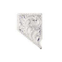 Lapel Pin - Tooled Sterling Silver Nevada Shaped Pin