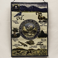 Nevada Wall Hanging with the Nevada State Seal - 17