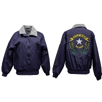 Lined Navy Blue Jacket with Nevada State Battle Born Logo