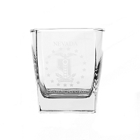 On the Rocks Square Glass with Legislative Insignia - 10 oz.