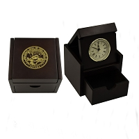 Clock in a Box  - Rosewood with the Nevada State Seal on the Top