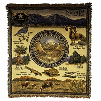 Nevada Tapestry with Nevada State Seal - 50