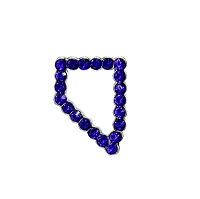 Pin - Tiny Nevada Shaped Pin with Blue Rhinestones