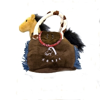 Plush - Pony Purse - Brown
