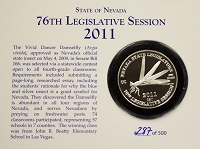 Medallion - 2011 Silver Nevada Legislative Medallion