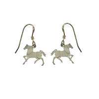 Earrings Horse Wires Silver Metal