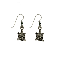 Earrings - Silver Tortoise Wires