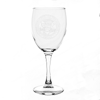 Clear Wine Glass with Nevada State Seal - 10 oz.