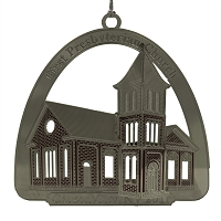 2011 - First Presbyterian Church Silver and Red Ornament - The Historical Buildings Ornament Collection of Carson City, Nevada