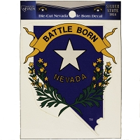 Battle Born Nevada Decal - 3 1/4
