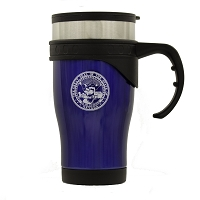 Travel Mug - Stainless Steel with Handle - Nevada State Seal - 16 oz.