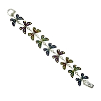 Multi Colored Dragonfly Bracelet with Magnetic Link Clasp