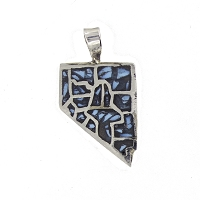 Pendant - Shape of Nevada with Turquoise 17 Counties - Made in Nevada