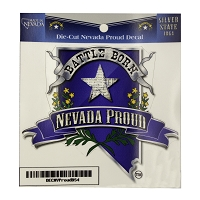 Battle Born Nevada Proud Decal - 3 1/4