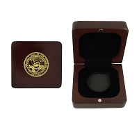 Rosewood Coin Box with Cut Out for Silver or Bronze Medallions 1 11/16