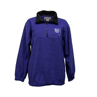 Fleece Royal Blue Pullover with Battle Born Nevada Proud Logo - 1/2 Zipper