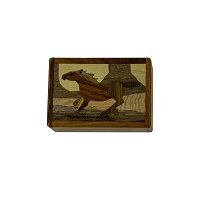 Wooden Box - Small Horse on Lid