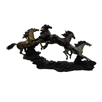 Statue - Four Galloping Horses Statue