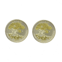 Cufflinks - Great Basin Quarter - 24k Gold Plated