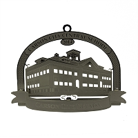 2014 - Carson City Central School Silver Ornament - The Historical  Buildings Ornament Collection of Carson City, Nevada