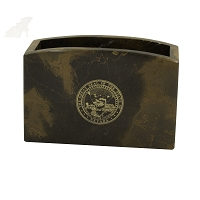 Pencil Box - Brown Marble - Nevada State Seal