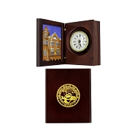 Book Clock - Rosewood with Picture Frame