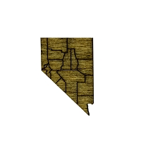 Pin - Dark Wood Nevada Counties - Small