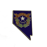Lapel Pin - Nevada State Shape with Battle Born