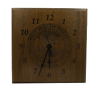 Mahogany Wood Clock with Nevada State Seal 13.5