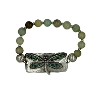 Dragonfly Medallion Stretch Bracelet