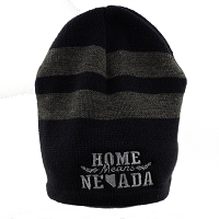Nevada Knitted Cap with the Home Means Nevada Logo - Navy and Gray